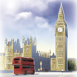 illustrations gameboard europe London - Big Ben