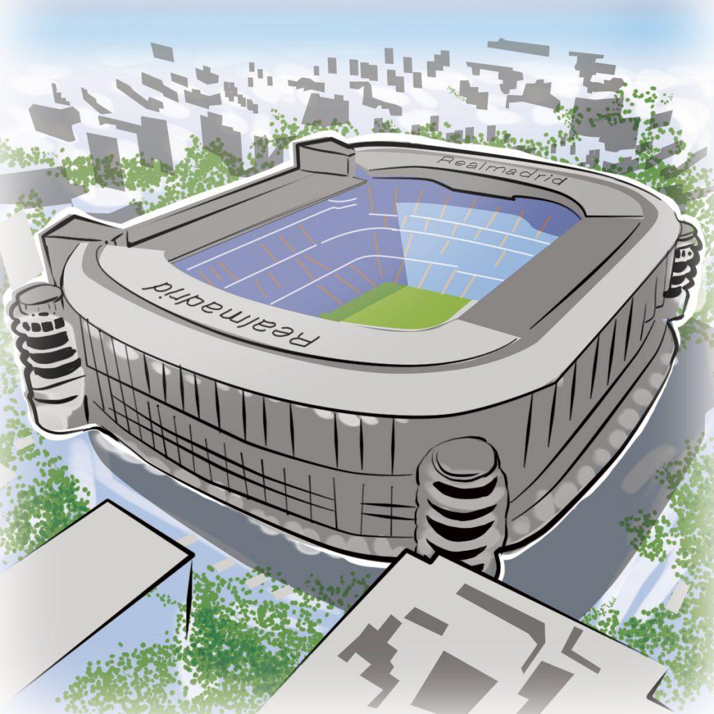 illustrations gameboard europe Madrid - Stadion Real Madrid