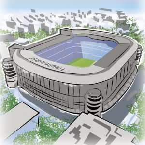 illustrations gameboard europe Madrid - Stadion Real Madrid