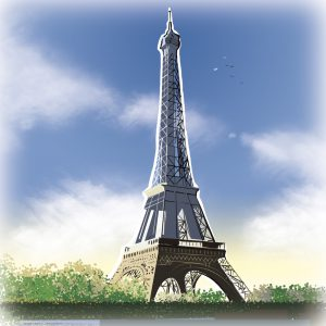 illustrations gameboard europe Paris - Eiffel Tower