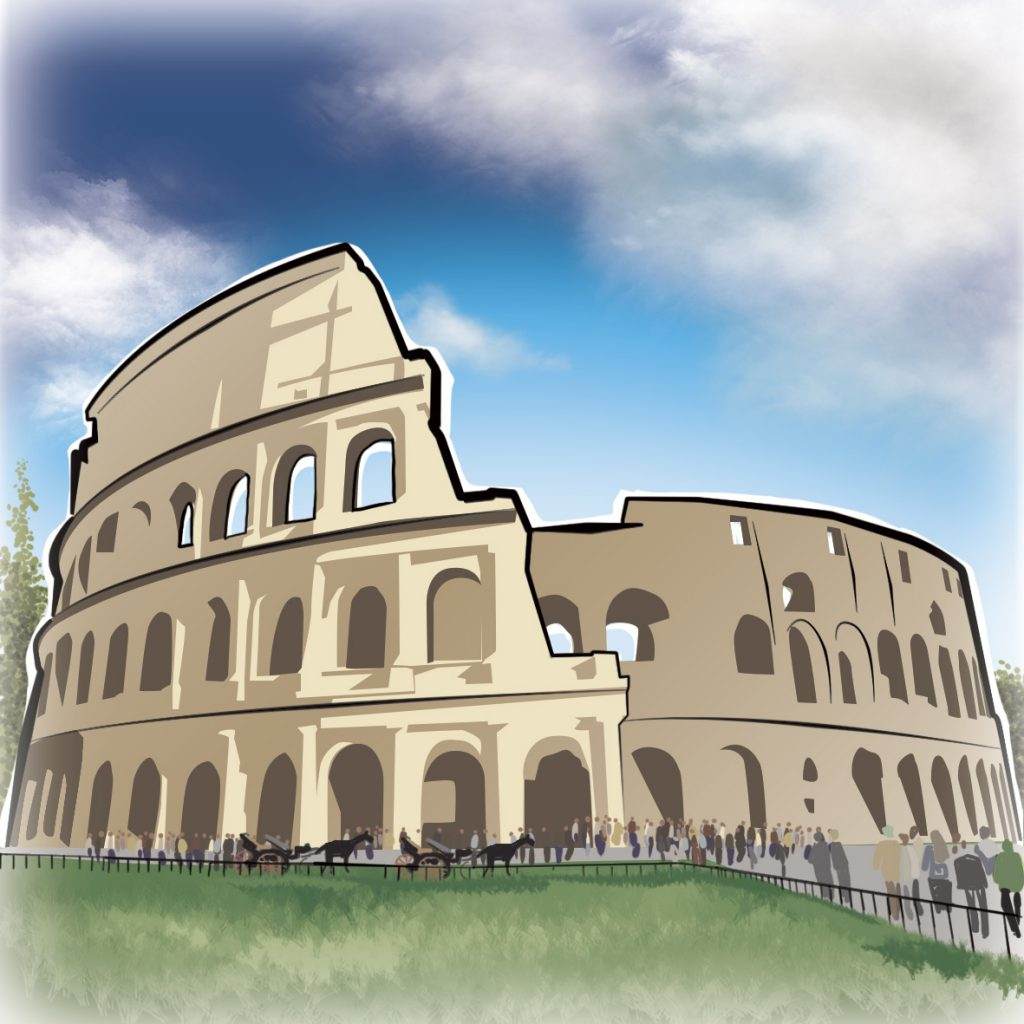illustrations gameboard europe Rome - Coloseum