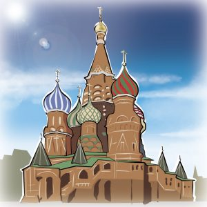 illustrations gameboard europe Moscow - Cerkiew Wasyla