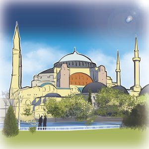 illustrations gameboard europe Istanbul - Hagia Sophia