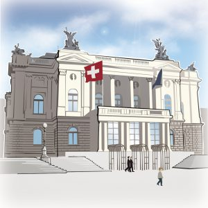 illustrations gameboard europe Zurich - Opera