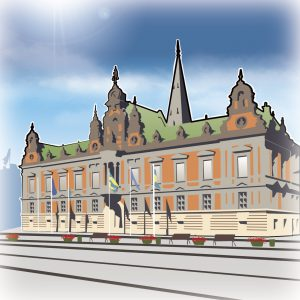 illustrations gameboard europe Malmo - Rathaus