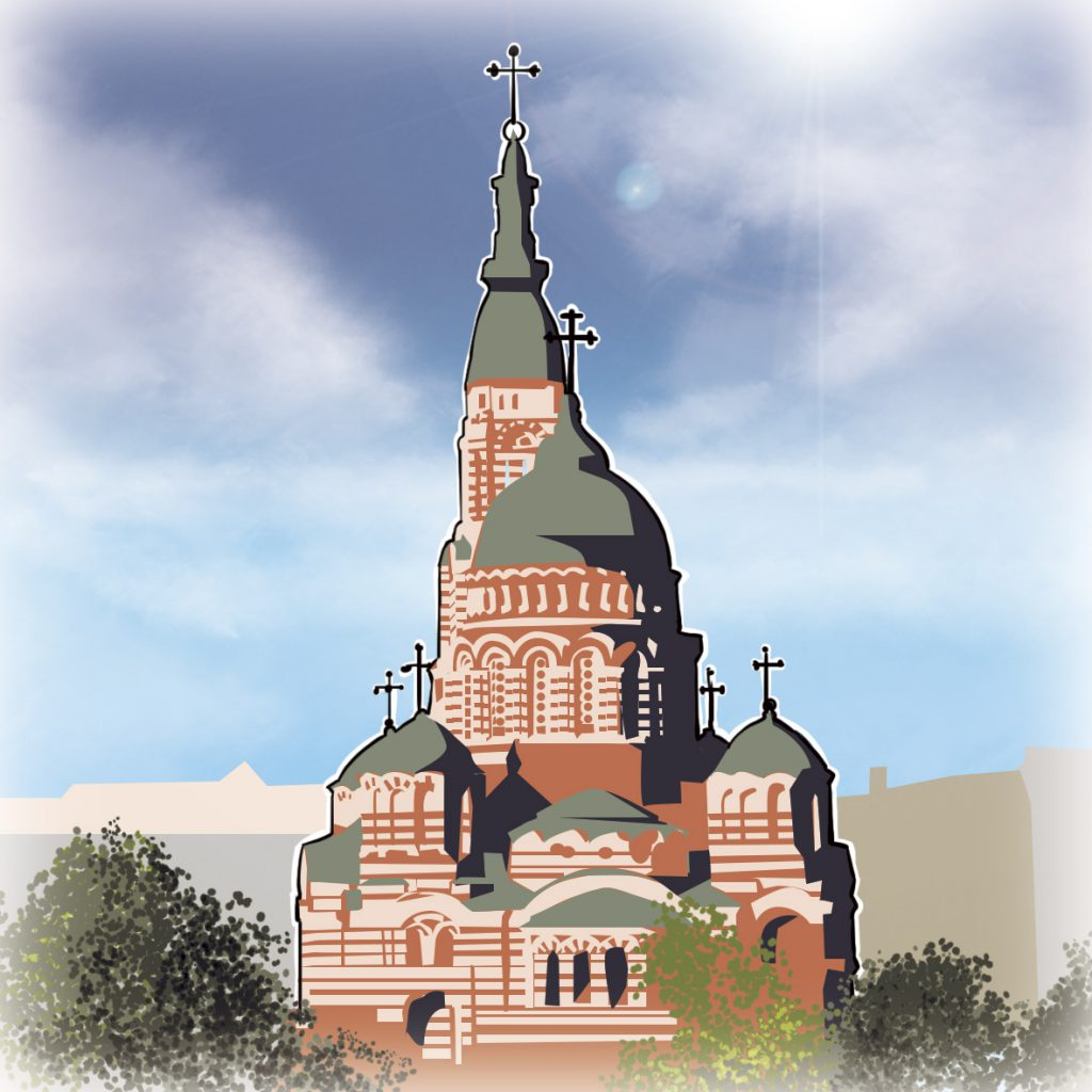 illustrations gameboard europe Charkov - Blogoslavienska Cathedral