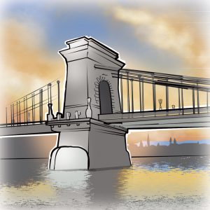 illustrations gameboard europe Budapest - Bridge