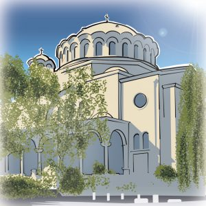 illustrations gameboard europe Sofia - St. Nedelya Kirche