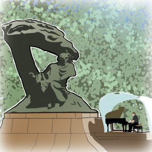 illustrations gameboard europe Warsaw - Chopin Monument