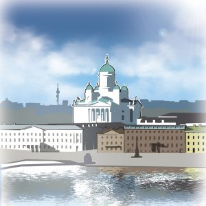 illustrations gameboard europe Helsinki - Cathedral