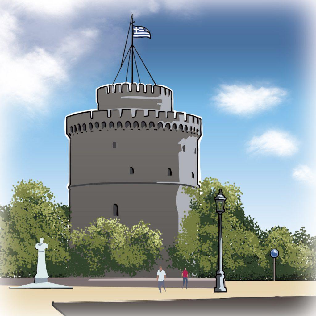 illustrations gameboard europe Tesaloniki - White Tower