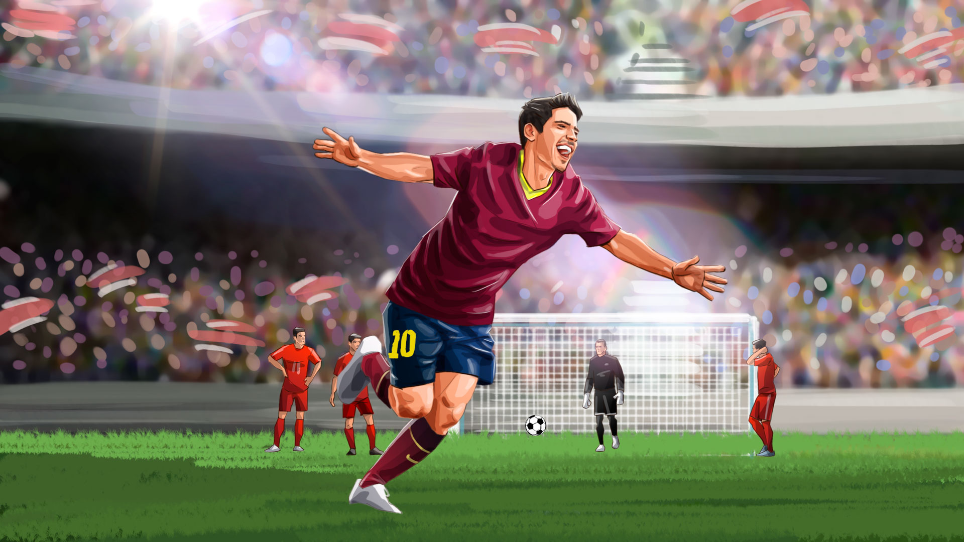 Soccer happy illustration, Famous matches - illustrations for web game