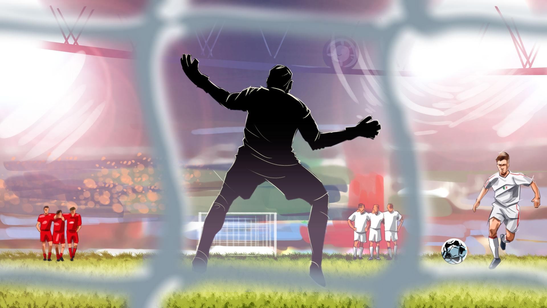 Dudek dance illustration, 'Famous matches - illustrations for web game