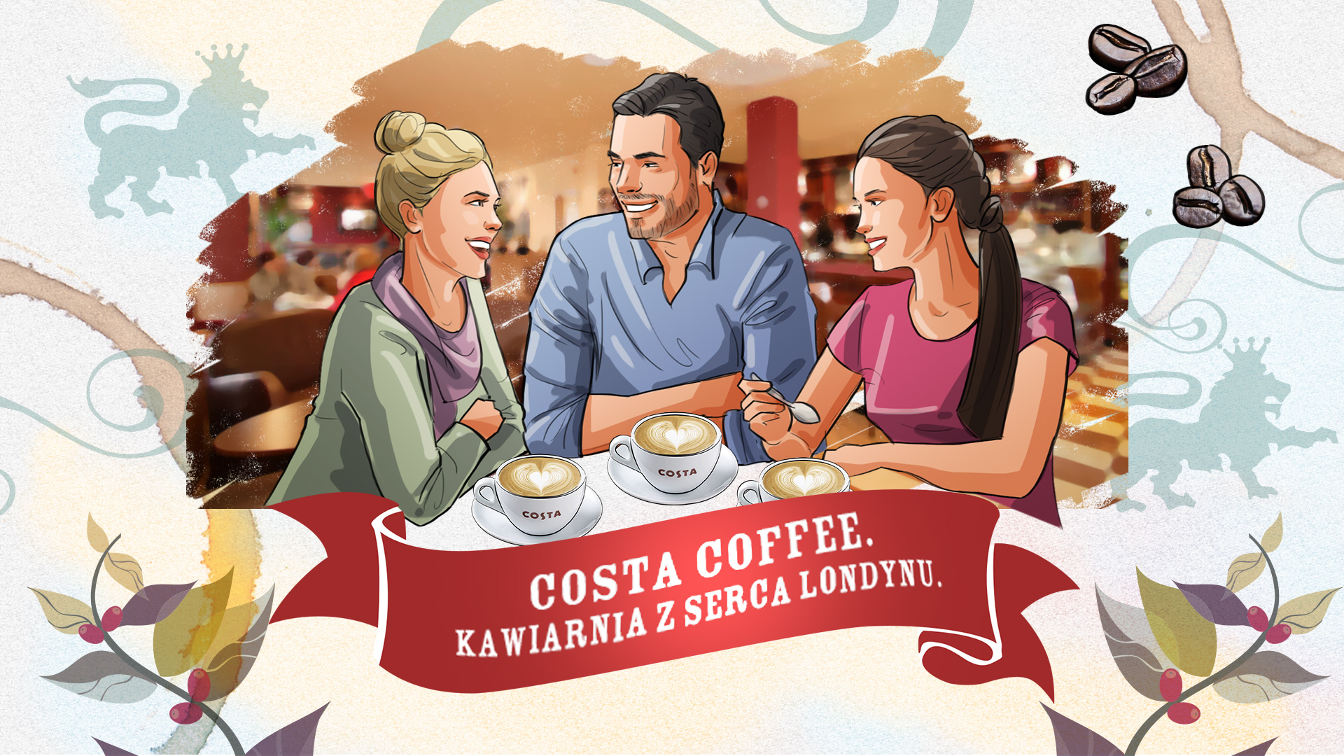 illustration coffee advertising