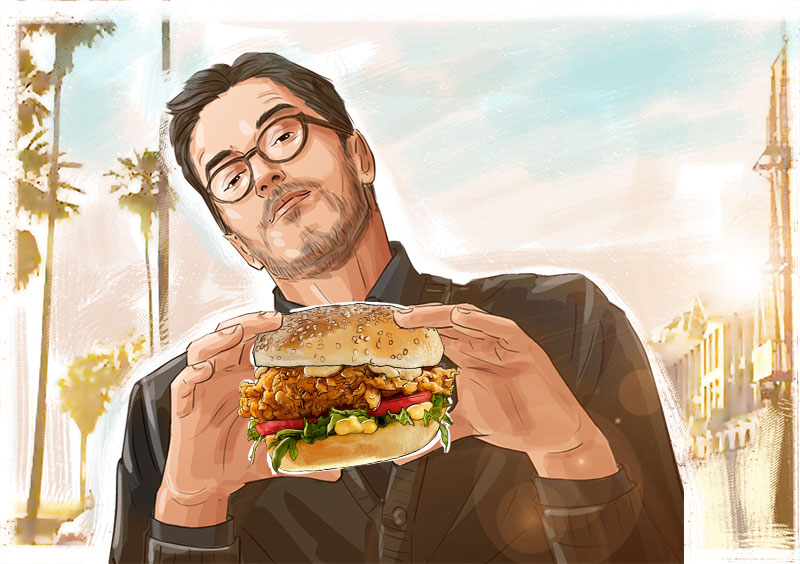 kfc illustration advertising