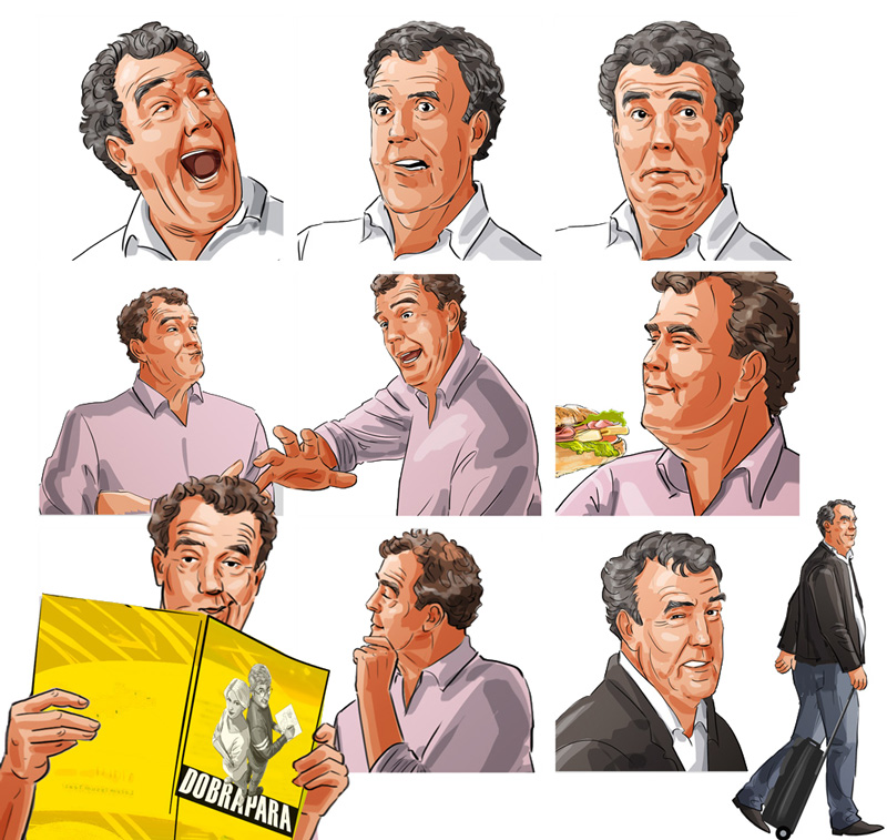 facial expressions clarkson illustration advertising