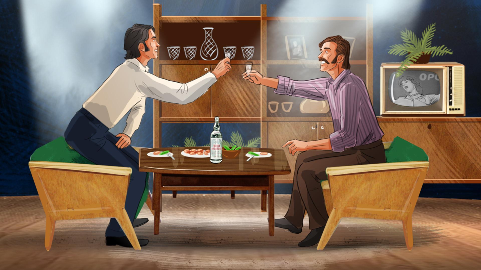 polish vodka illustration