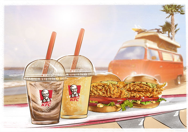 kfc illustration advertising