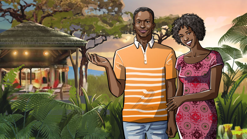 tanzania african men illustration advertising