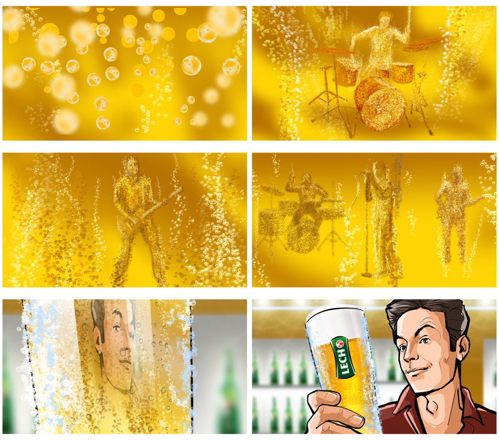 beer bubbles storyboard