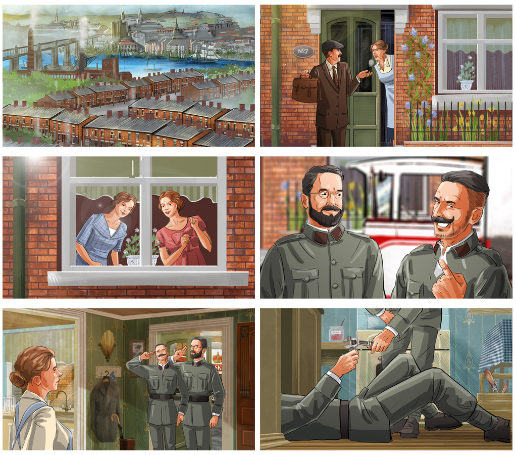 soldiers london plummer comedy storyboard advertising