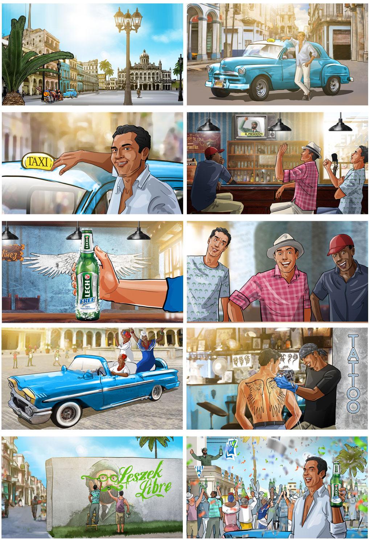 cuba beer storyboard dance happy freedom comedy storyboard advertising