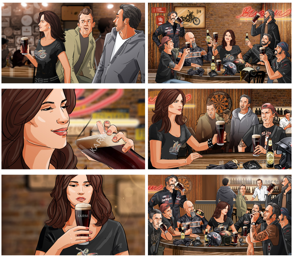 beer advertising penelope cruise storyboard