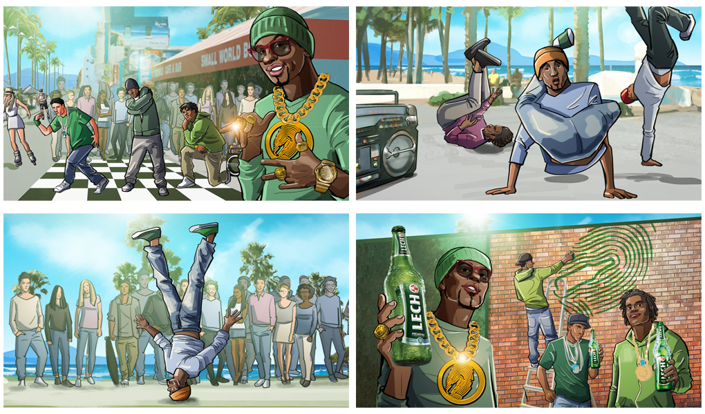 raper california music street dance storyboard advertising